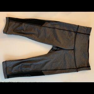 Lululemon - Grey & Black Mesh Cropped Leggings